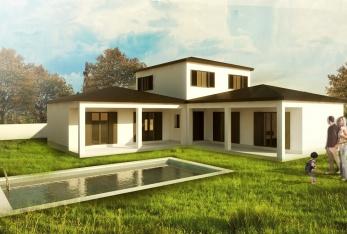 Photo maison Maison en L 150M2 avec garage de 15M2
