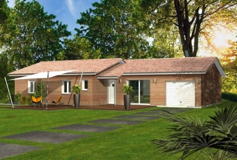 constructeur maisons clairlande bois pr sente sa maison ocellee toit plat. Black Bedroom Furniture Sets. Home Design Ideas