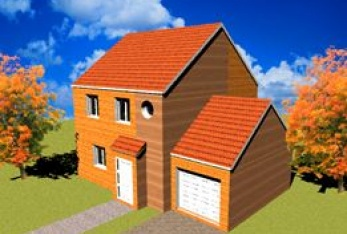 Miniature photo maison Kit Standing 6 80m² - Bois