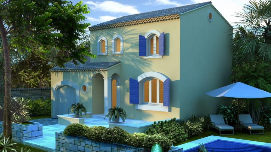 constructeur art et traditions m diterran e pr sente sa maison lotus. Black Bedroom Furniture Sets. Home Design Ideas