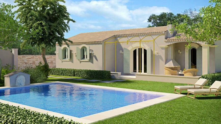 Constructeur art et traditions m diterran e pr sente sa maison saint ambroix - Maison de la mediterranee ...