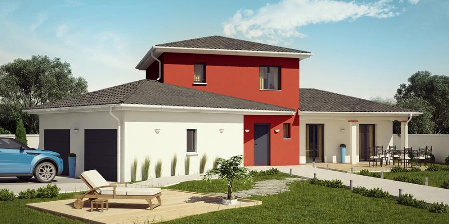 constructeur demeures caladoises pr sente sa maison tikehau moderne. Black Bedroom Furniture Sets. Home Design Ideas