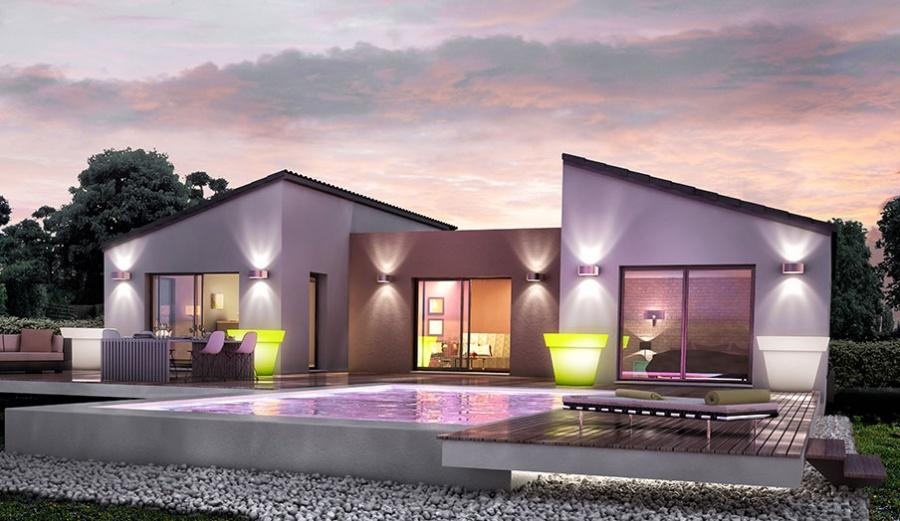 Constructeur demeures d 39 occitanie pr sente sa maison for Modele maison en u ouvert