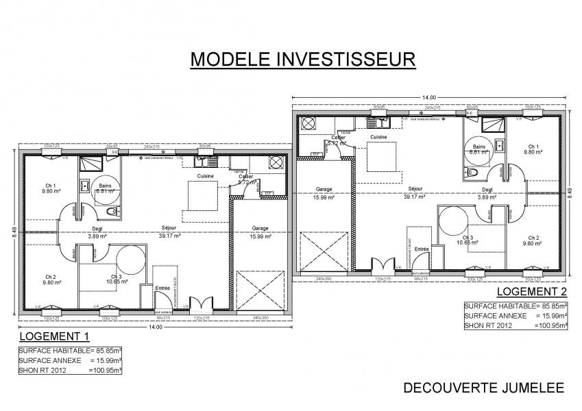 constructeur demeures de la c te d 39 argent pr sente sa maison decouverte jumelee. Black Bedroom Furniture Sets. Home Design Ideas
