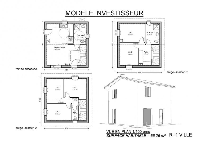 constructeur demeures de la c te d 39 argent pr sente sa maison reference etage investisseurs. Black Bedroom Furniture Sets. Home Design Ideas