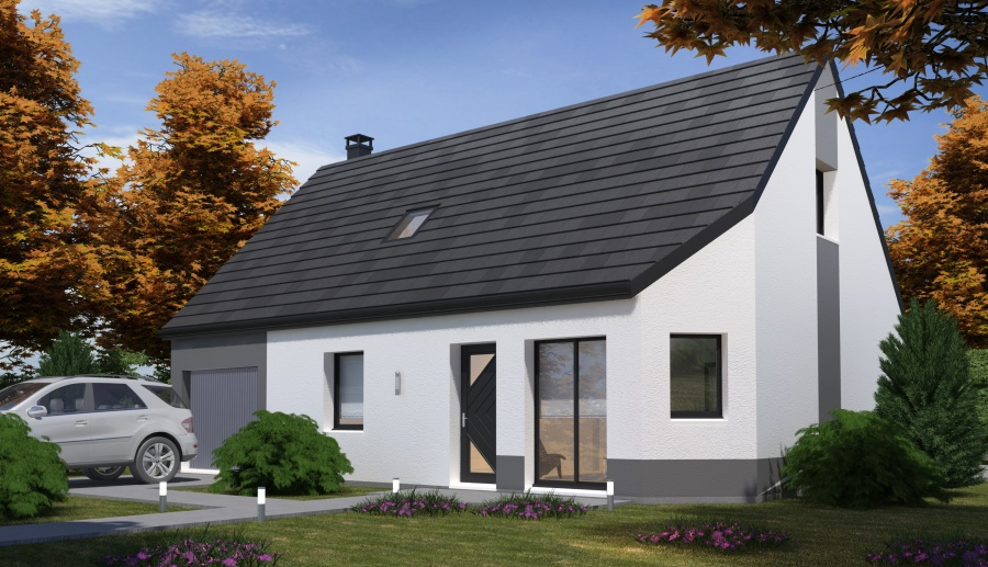 Constructeur habitat concept pr sente sa maison neuve - Maison pret a decorer ...