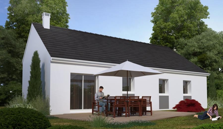 Constructeur habitat concept pr sente sa maison neuve for Garage bailleau le pin