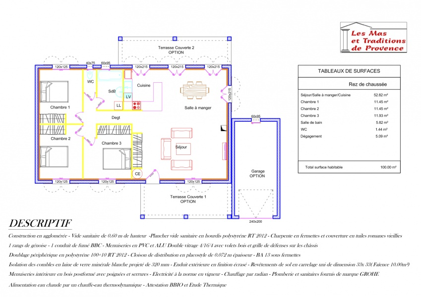 Cout maison 100m2 best prix de la maison en bois en kit for Cout maison plain pied 100m2