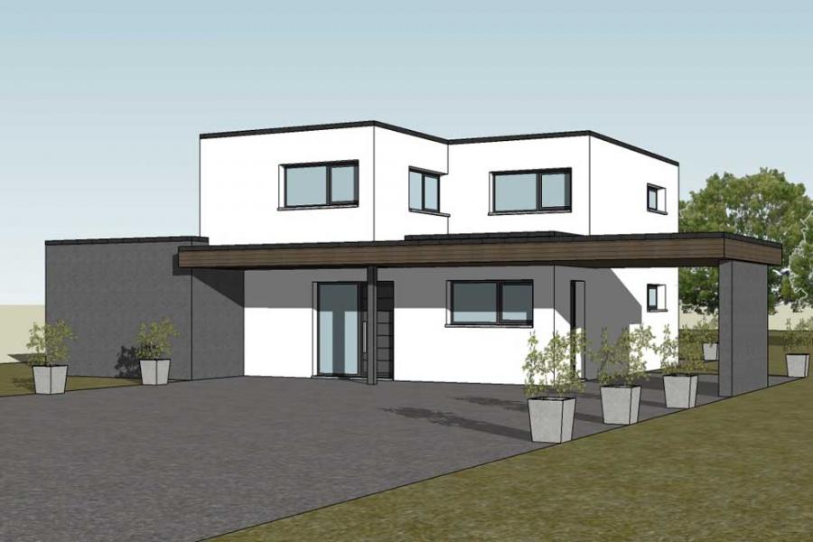 constructeur maisons arlogis pr sente sa maison cubique. Black Bedroom Furniture Sets. Home Design Ideas