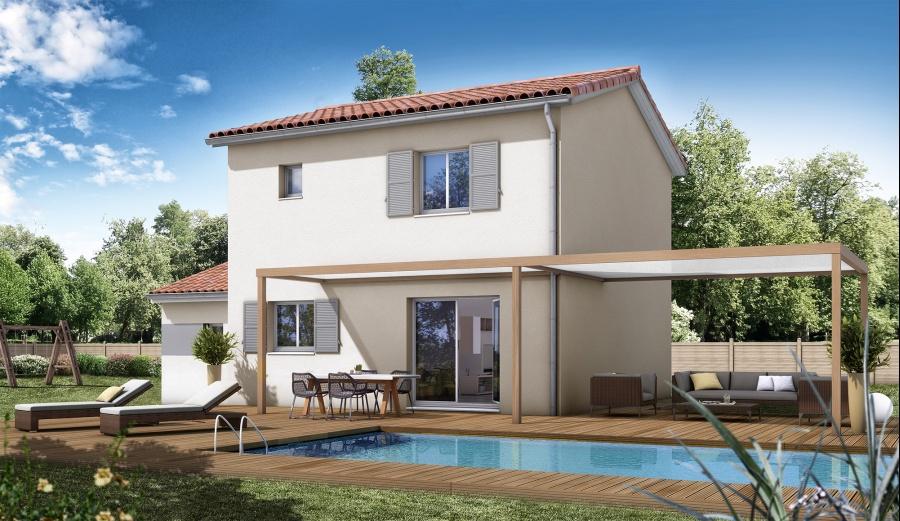 constructeur maisons bati france pr sente sa maison mod le oranger traditionnel. Black Bedroom Furniture Sets. Home Design Ideas