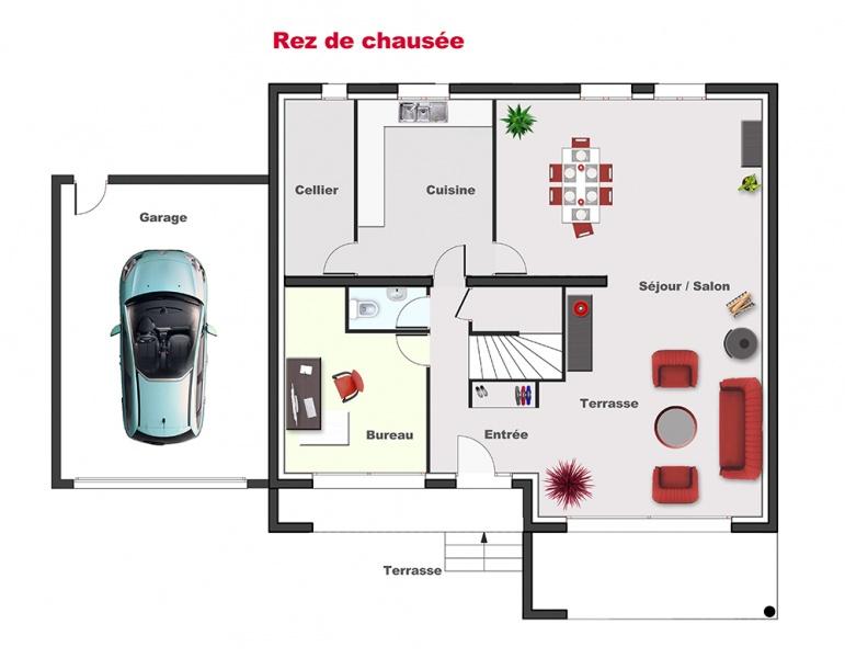 plan maison berval
