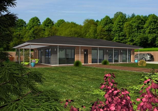constructeur maisons clairlande bois pr sente sa maison esperie loft. Black Bedroom Furniture Sets. Home Design Ideas
