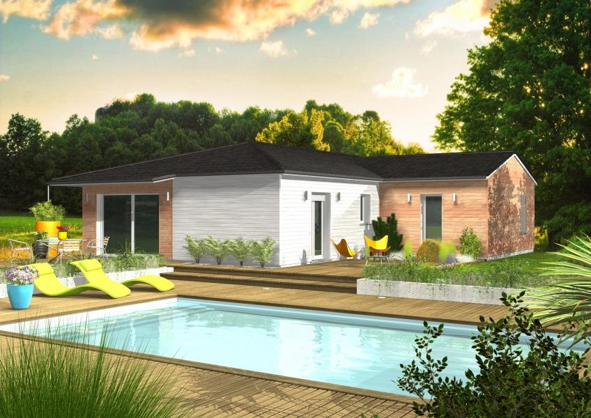 constructeur maisons clairlande bois pr sente sa maison melitee. Black Bedroom Furniture Sets. Home Design Ideas