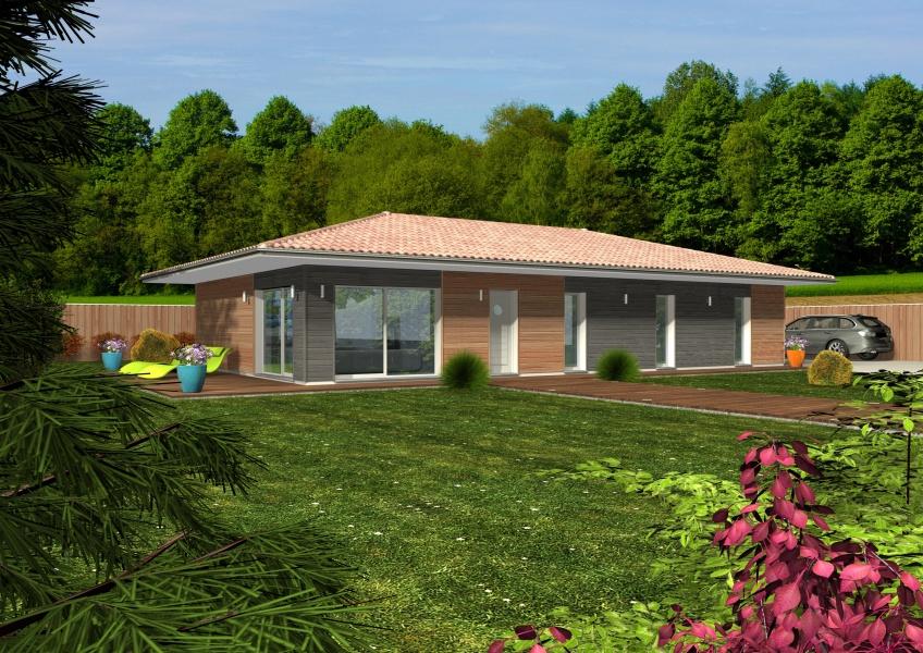 constructeur maisons clairlande bois pr sente sa maison esperie. Black Bedroom Furniture Sets. Home Design Ideas
