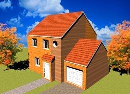 constructeur maisons france for t pr sente sa maison standing 6 80m bois pr t finir. Black Bedroom Furniture Sets. Home Design Ideas