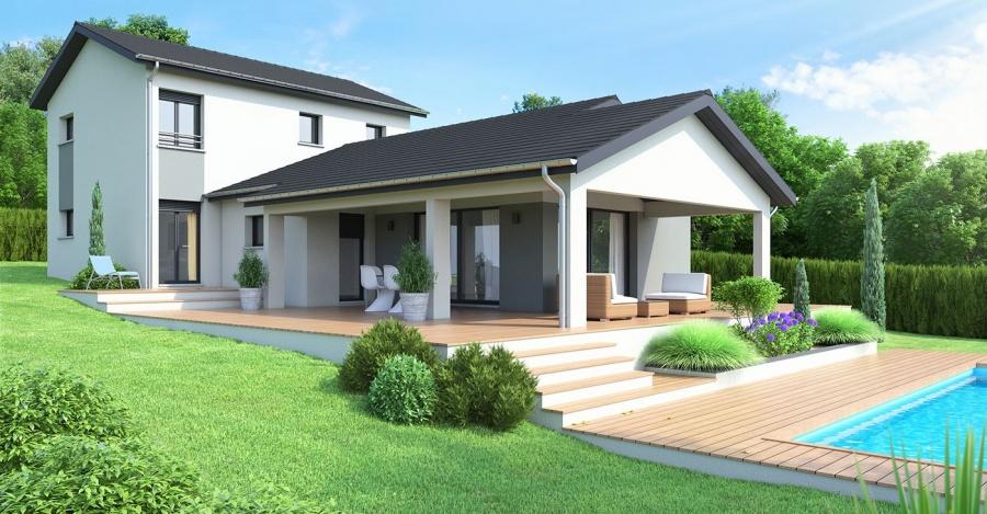 Constructeur maisons ideales pr sente sa maison maison - Maison sur terrain rectangulaire ...