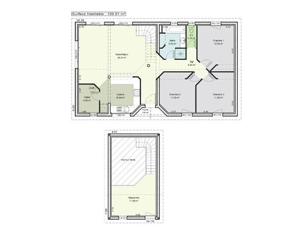 Constructeur maisons lca pr sente sa maison mod le ambre - Maison pret a decorer ...