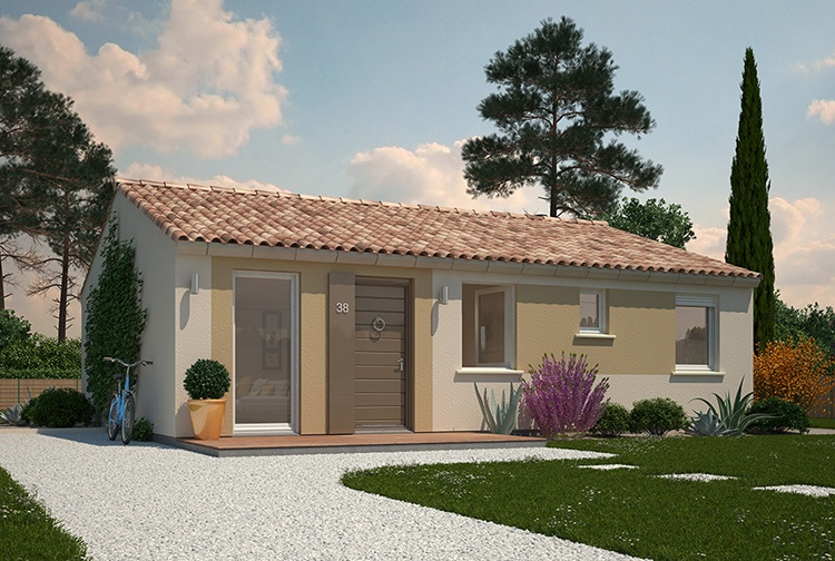 Constructeur maisons ph nix pr sente sa maison welcome for Couleur facade maison plain pied