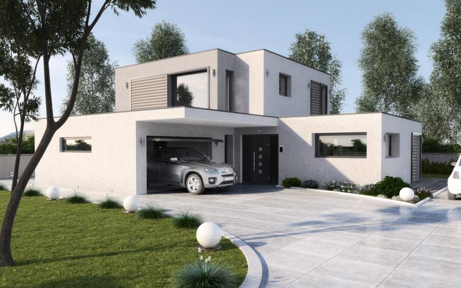 Constructeur maisons stephane berger pr sente sa maison grecia for Idee maison contemporaine