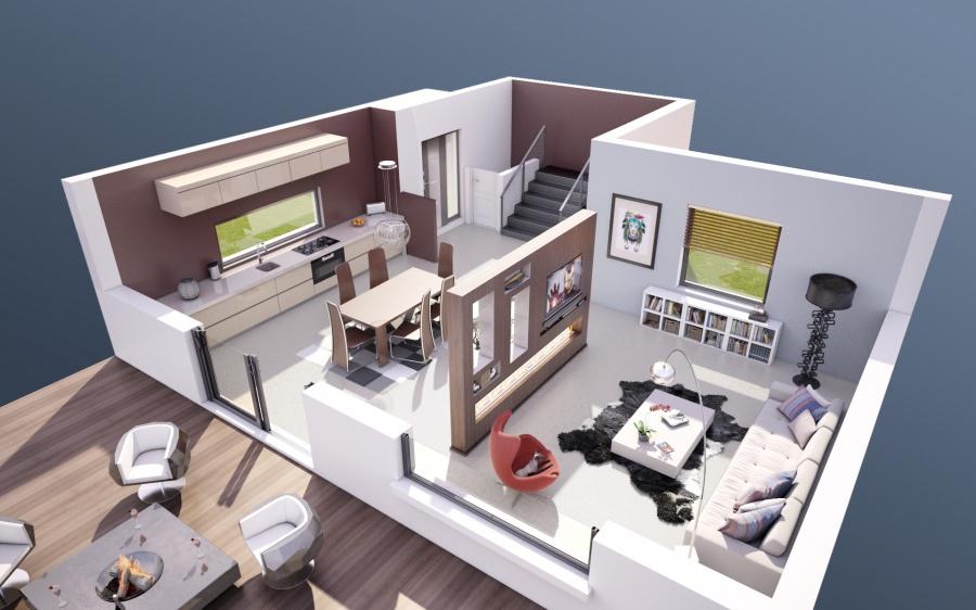Constructeur maisons stephane berger pr sente sa maison for Maison en cube prix
