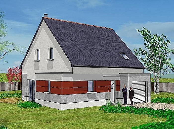 Constructeur maisons t va pr sente sa maison charme for Construction maison 150000