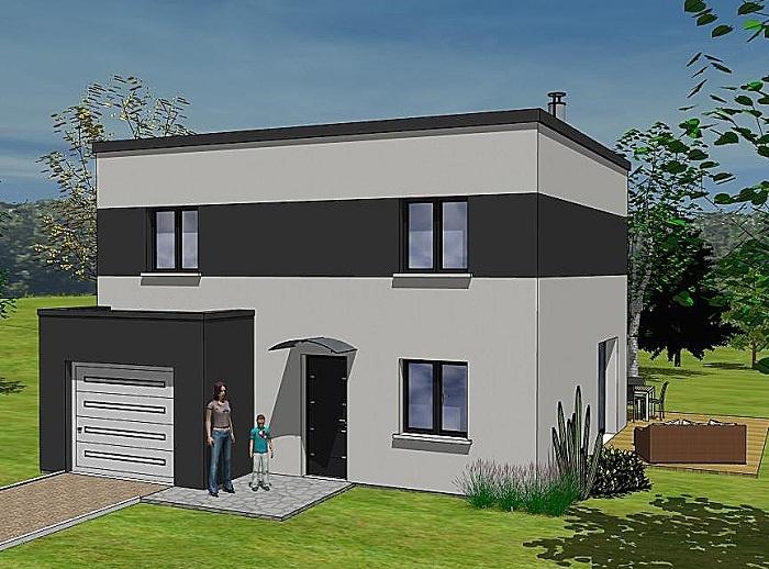 Constructeur maisons t va pr sente sa maison vika nord loire for Construction maison 150000