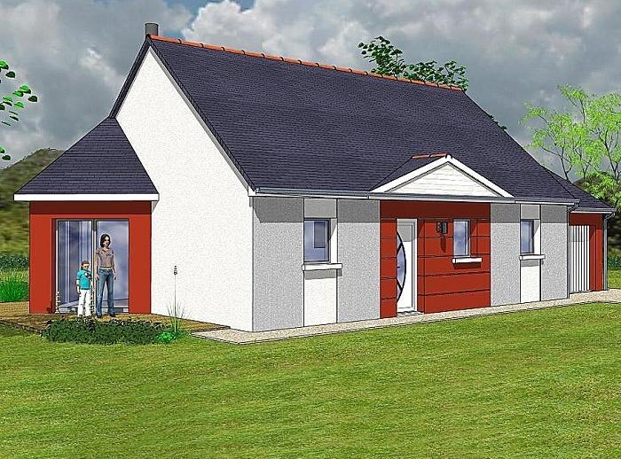 Constructeur maisons t va pr sente sa maison aubade nord for Constructeur loire
