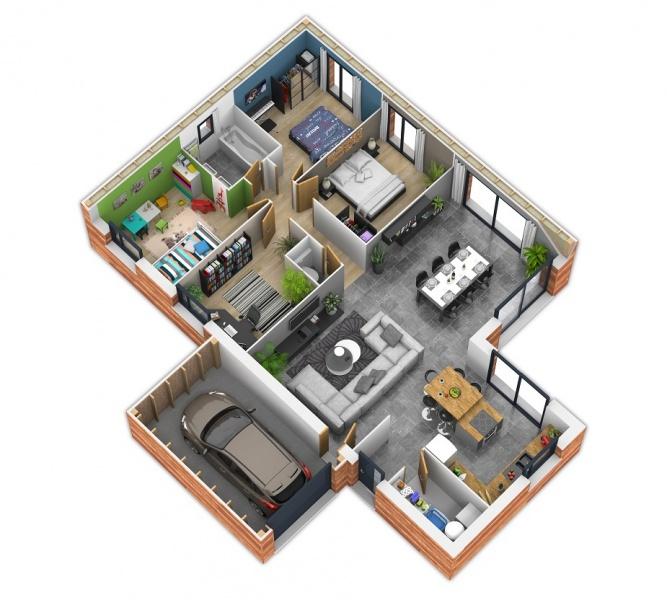 constructeur natilia amiens pr sente sa maison natisoon 3 chambres. Black Bedroom Furniture Sets. Home Design Ideas