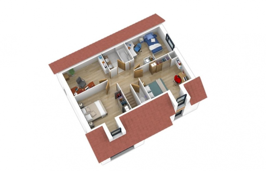 constructeur natilia amiens pr sente sa maison natishen 3 chambres. Black Bedroom Furniture Sets. Home Design Ideas