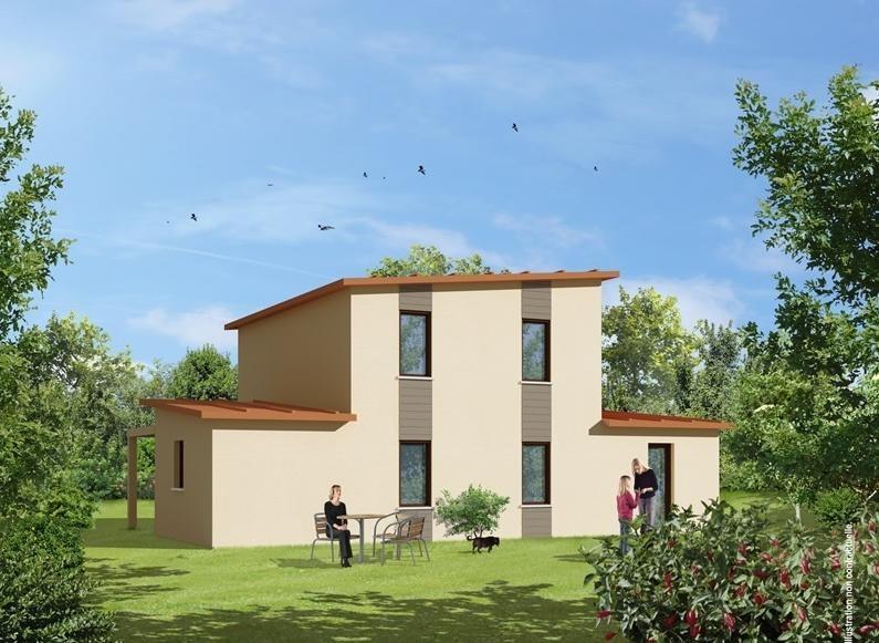 Constructeur natilia maison bois pr sente sa maison gamme for Constructeur maison bois contemporaine