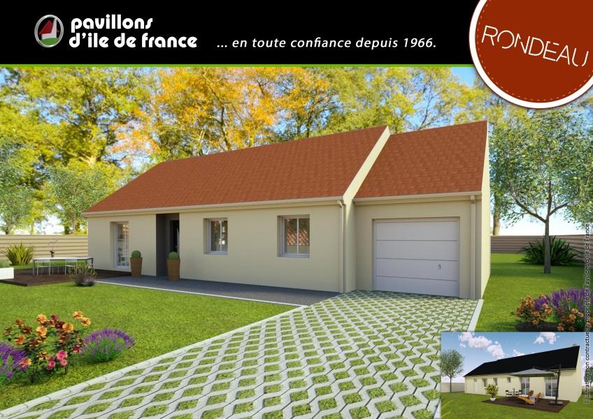 constructeur pavillons d 39 ile de france pr sente sa maison mod le rondeau. Black Bedroom Furniture Sets. Home Design Ideas