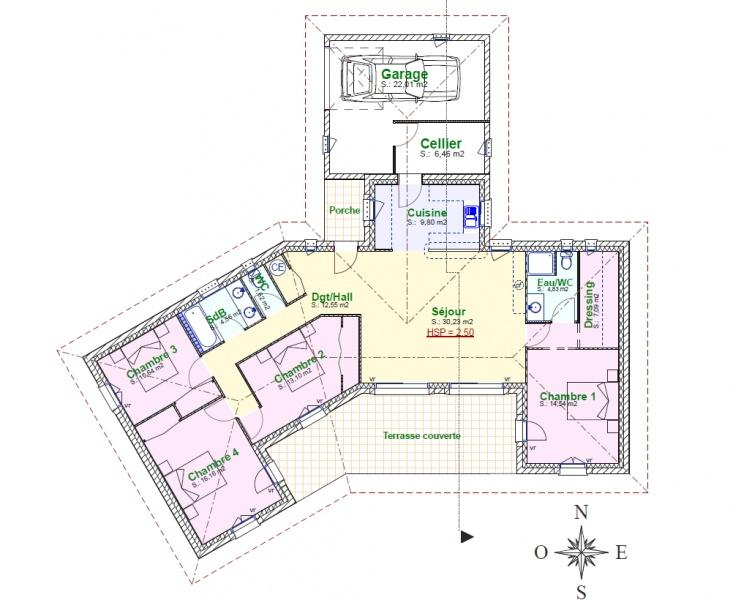constructeur provence maisons pr sente sa maison stella pr t peindre. Black Bedroom Furniture Sets. Home Design Ideas