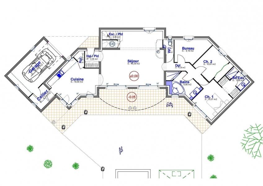 Constructeur provence maisons pr sente sa maison julia for Modele de villa a construire