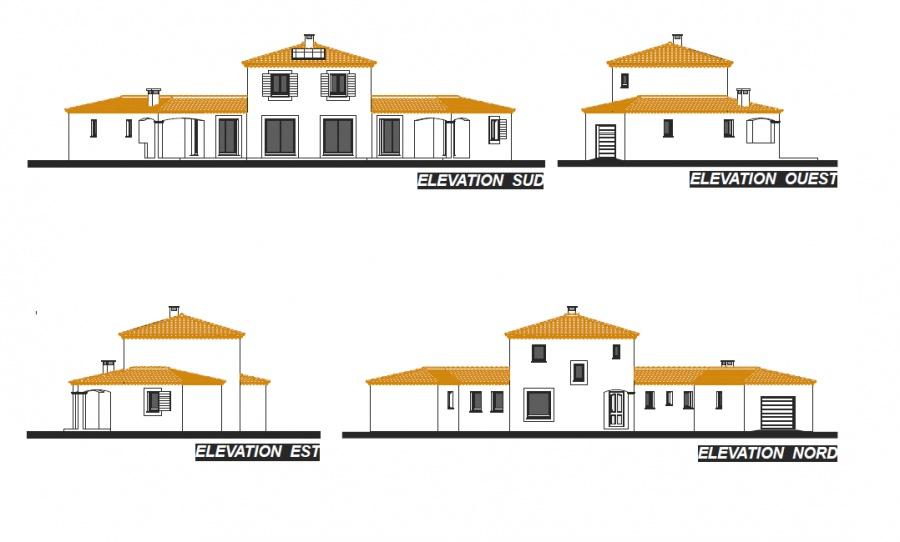 Exemple Facon De Entre Villa En Tunisie  Constructeur Provence