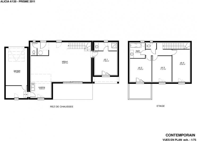 constructeur villas prisme pr sente sa maison villa alicia. Black Bedroom Furniture Sets. Home Design Ideas