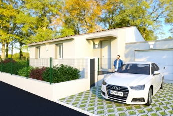 Photo maison villa 80m² + garage plain pied