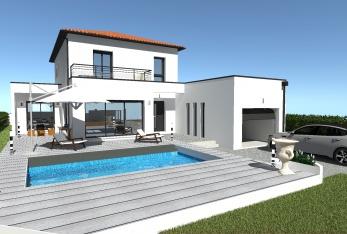 Photo maison Tradi - Moderne (mélange de toitures)