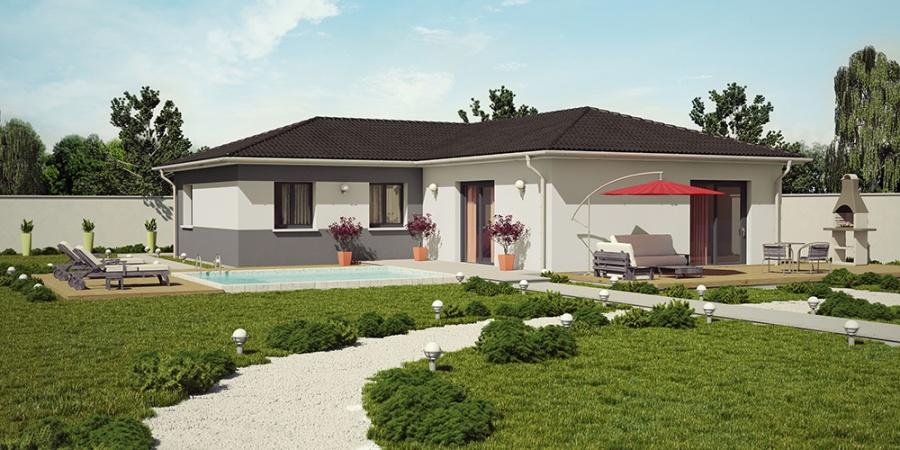 Constructeur demeures caladoises pr sente sa maison for Maison moderne rectangulaire