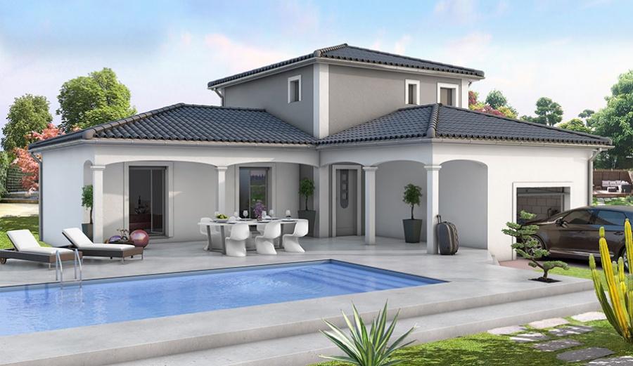 constructeur demeures d 39 occitanie pr sente sa maison mod le charme. Black Bedroom Furniture Sets. Home Design Ideas