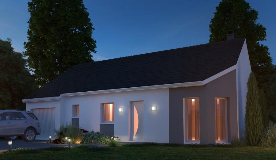 Constructeur habitat concept pr sente sa maison neuve la loupe 28120 pr t d corer - Maison pret a decorer ...