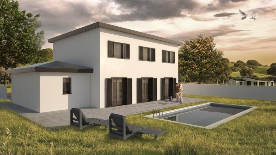 constructeur les mas et traditions de provence pr sente sa maison mod le bastide de 100m2 avec. Black Bedroom Furniture Sets. Home Design Ideas