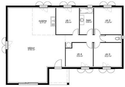 constructeur maison archi concept pr sente sa maison neuve maison 90 m 3 chambres terrain. Black Bedroom Furniture Sets. Home Design Ideas