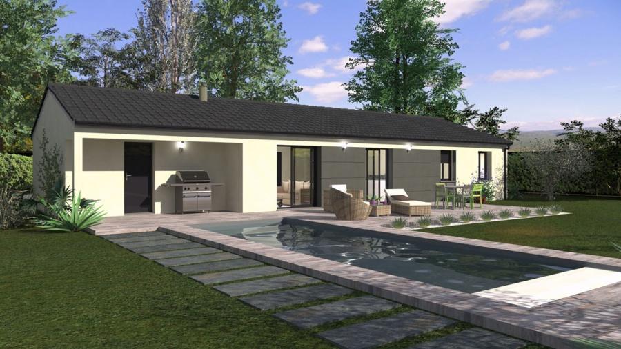 constructeur maison familiale pr sente sa maison alais plain pied en l contemporaine. Black Bedroom Furniture Sets. Home Design Ideas