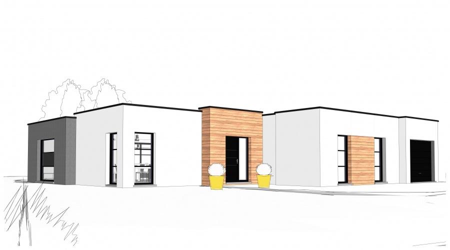 Constructeur Maisonneuve présente sa maison Maison cubique plain ...