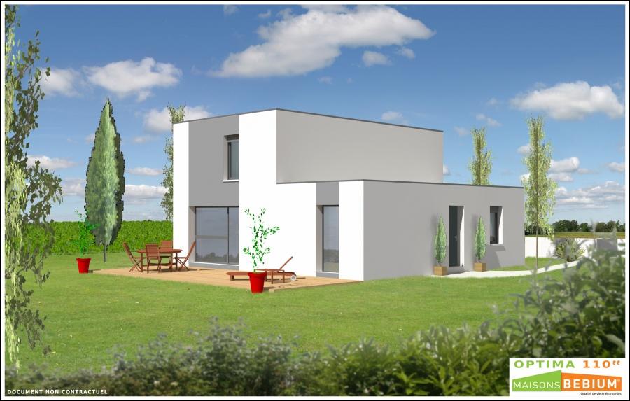 constructeur maisons bebium sarl inng pr sente sa maison optima 110. Black Bedroom Furniture Sets. Home Design Ideas