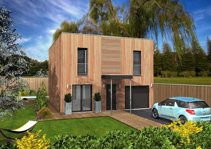 Constructeur Maisons Clairlande Bois Prsente Sa Maison Myrtil Toit Plat