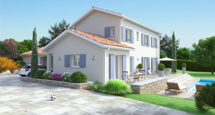 constructeur maisons ideales pr sente sa maison maison bastide type corps de ferme. Black Bedroom Furniture Sets. Home Design Ideas