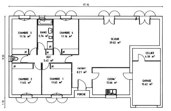 Constructeur maisons lca pr sente sa maison mod le gironde 118 pr t d corer - Maison pret a decorer ...
