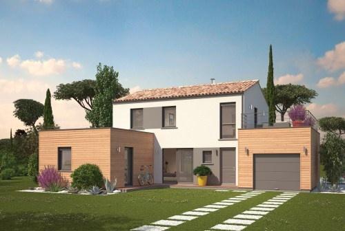 constructeur maisons ph nix pr sente sa maison volumes etage tendance. Black Bedroom Furniture Sets. Home Design Ideas