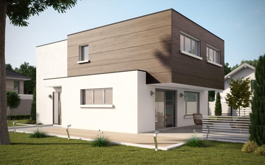 constructeur maisons stephane berger pr sente sa maison maisons cube. Black Bedroom Furniture Sets. Home Design Ideas